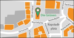 Grüne Karte Kropstadtplatz Link zu Google-Maps