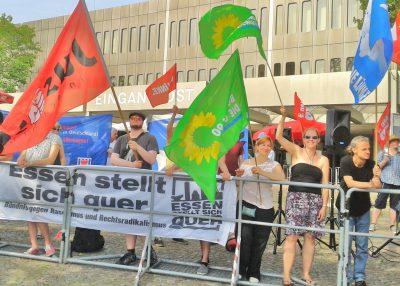 natürlich gab es gegen diesen AfD-Parteitag in der städtischen Grugahalle auch deutlichen Protest.