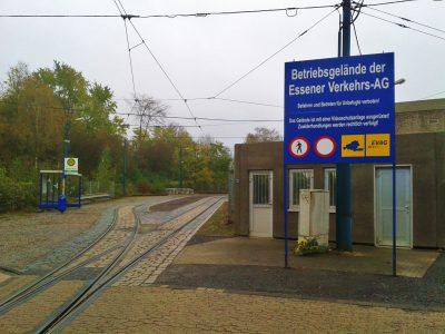 Ein EVAG Betriebshof in Bergeborbeck