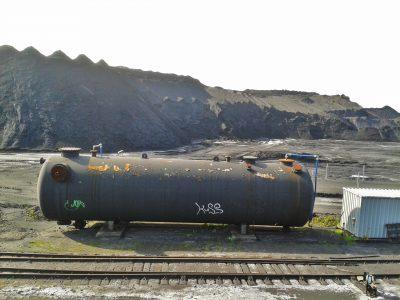 Reste der nationalen Kohlereserve in Vogelheim